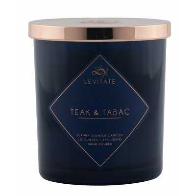 Teak and Tabac 10oz. Glass Scented Jar Candle - Wayfair