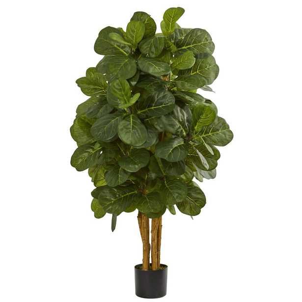 4 in. Fiddle Leaf Fig Artificial Tree - Home Depot