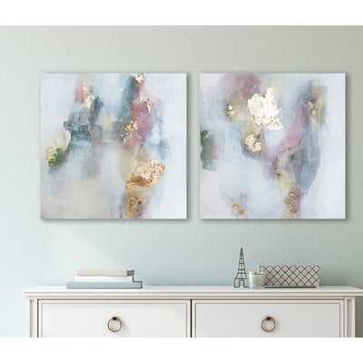 'Rose' 2 Piece Print Set on Canvas - Wayfair