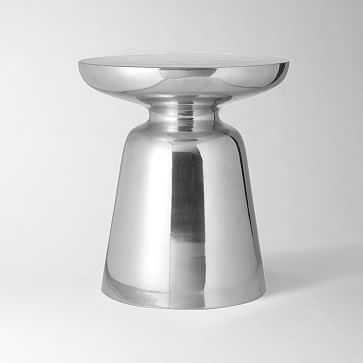 Martini Side Table, Metal, Silver - West Elm