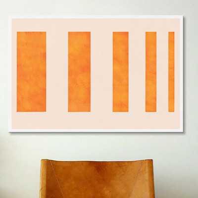 'Modern Art - Orange Levies' Graphic Art Print - AllModern