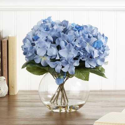 Faux Hydrangea Centerpiece in Vase - Birch Lane
