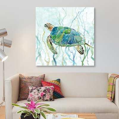 'Sea Turtle Swim II' Print on Canvas - Wayfair