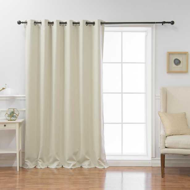 Best Home Fashion Wide Basic 80 in. W x 96 in. L Blackout Curtain in Ivory - Home Depot