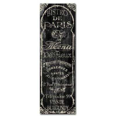 'Paris Bistro VIII' by Color Bakery Textual Art on Wrapped Canvas - Wayfair