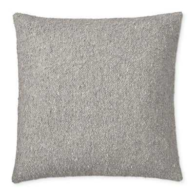 """Boucle Pillow Cover, 22"""" X 22"""", Grey - Williams Sonoma"""