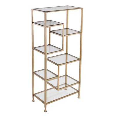 Charney Geometric Bookcase - AllModern
