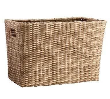 Torrey Outdoor Rectangle Basket - Natural - Pottery Barn