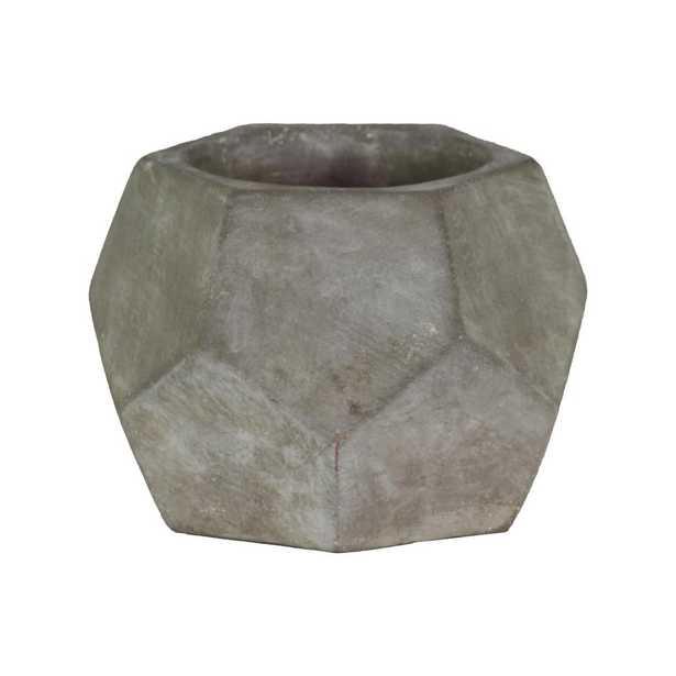 Gray Concrete Cement Decorative Vase, Grays - Home Depot