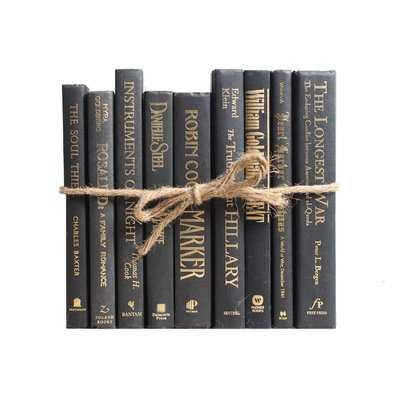 Authentic Decorative Books - By Color Modern Luxe ColorPak (1 Linear Foot, 10-12 Books) - Wayfair