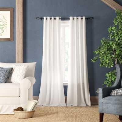 Solid Blackout Grommet Curtain Panels - Birch Lane