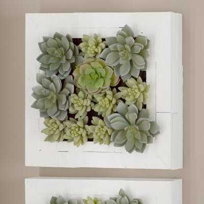Artificial Wall Arrangement Succulent Plant in Planter - Wayfair