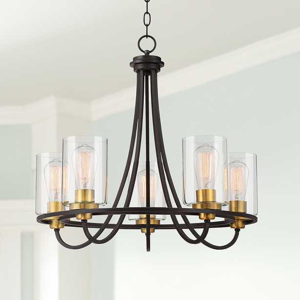 "Possini Euro Demy 23""W Oil-Rubbed Bronze 5-Light Chandelier - Style # 63T02 - Lamps Plus"