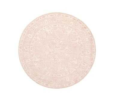 Astrid Rug, 5' Round, Dusty Rose - Pottery Barn Kids