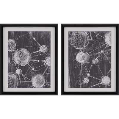 """Molecular"""" 2 Piece Framed Wall Art Set - Wayfair"""