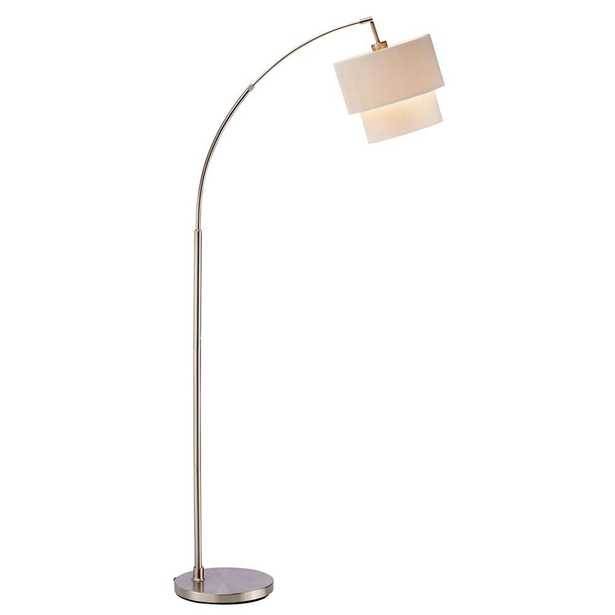 Adesso Gala 71 in. Natural Arc Lamp - Home Depot