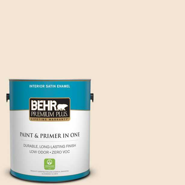 BEHR Premium Plus Home Decorators Collection 1 gal. #hdc-NT-11A Warm Marshmallow Satin Enamel Zero VOC Interior Paint and Primer in One - Home Depot