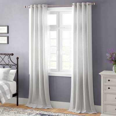 Madison Solid Color Grommet Single Curtain Panel - AllModern