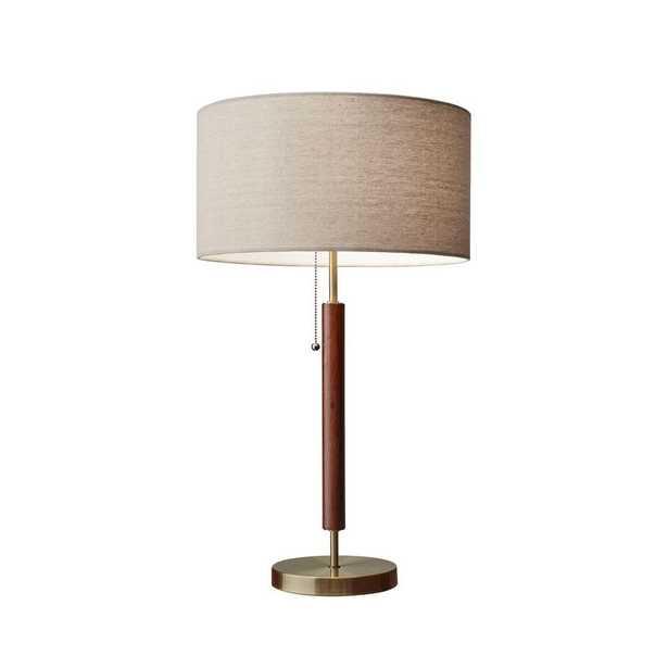 Adesso Hamilton 26 in. Brass Table Lamp - Home Depot