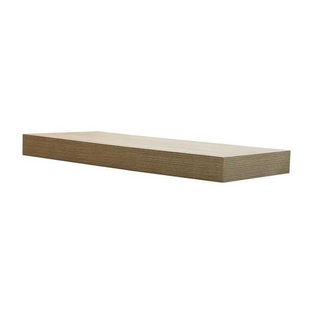 23.6 in. W x 10.2 in. D x 2 in H Driftwood Gray Oak Floating Shelf - Home Depot