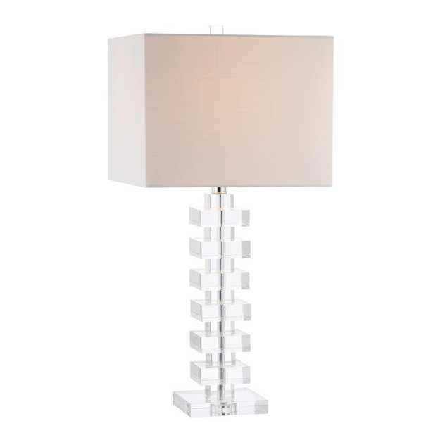 JONATHAN Y June 28 in. Clear Crystal Table Lamp - Home Depot