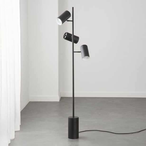 Trio Black Floor Lamp - CB2