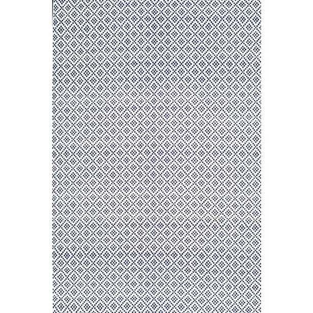 Diamonds Cotton Trellis Navy (Blue) 8 ft. x 10 ft. Area Rug - Home Depot