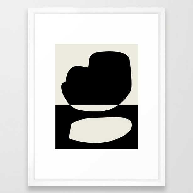 // Reverse 01 Framed Art Print by Mpgmb- Scoop White -15 x 21 - Society6