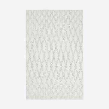 Hazy Lattice Rug, Ivory, 5'x8' - West Elm