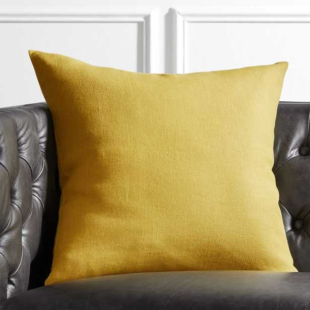 "20"" Linon Acid Green Pillow with Down-Alternative Insert - CB2"