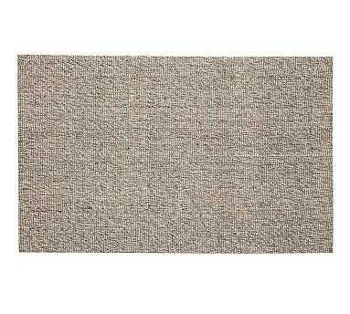 Chunky Natural Wool & Jute Rug, 3 x 5', Gray - Pottery Barn