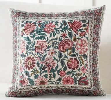 "Lakshmi Block Print Inspired Pillow Cover, 20"", Pink Multi - Pottery Barn"