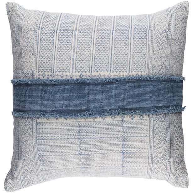 Culpeper Poly Euro Pillow, Blue - Home Depot