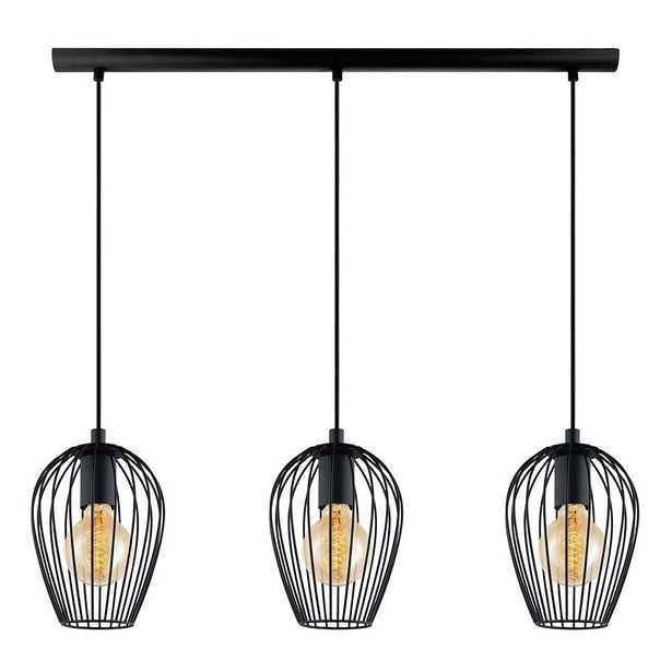 EGLO Newtown 3-Light Black Multi Pendant - Home Depot