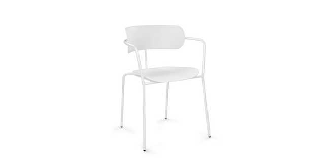 Colibri White Dining Armchair - Article
