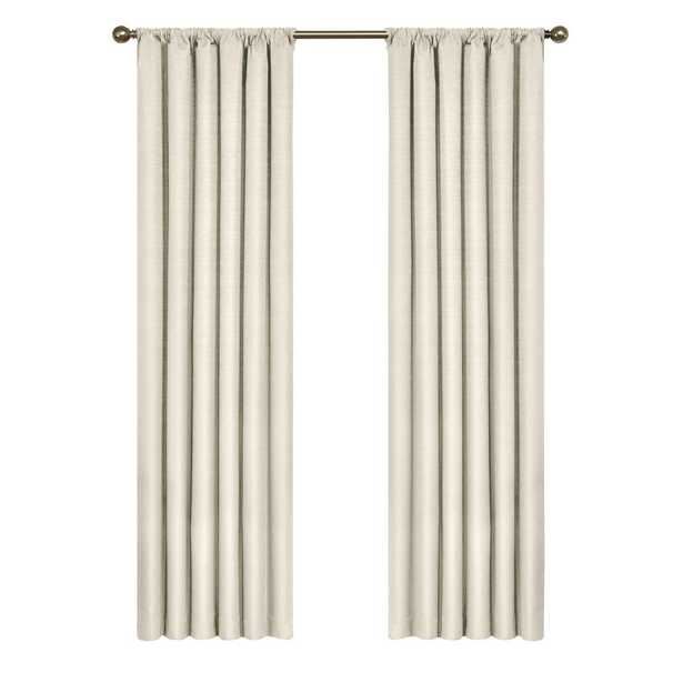 Eclipse Kendall Blackout Ivory Curtain Panel, 95 in. Length - Home Depot