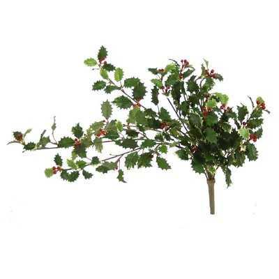 Holly Bush Vine Branch (Set of 8) - Wayfair