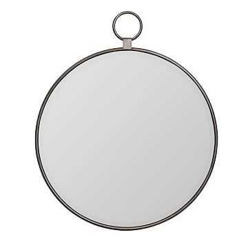 """Round Loop Mirror, 25"""", Gray - West Elm"""