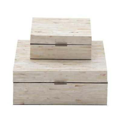 Leeja 2 Piece Mother of Pearl Inlay Decorative Box Set - AllModern