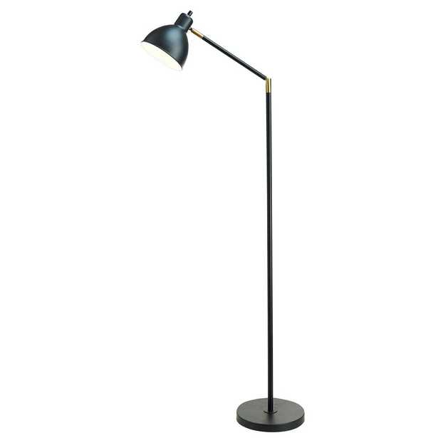 Catalina Lighting 54.5 in. Articulating Floor Lamp with Antique Brass Accents - Home Depot