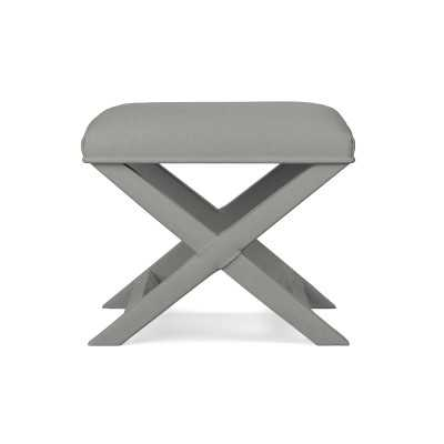 X Base Stool, Standard, Performance Linen Blend, Solid, Cobblestone - Williams Sonoma