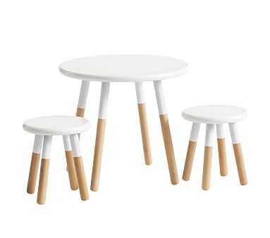 My First Two Tone Play Table & Chair Set, Natural/Simply White, Flat Rate - Pottery Barn Kids