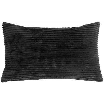 Luciana Lumbar Pillow, Black - Wayfair