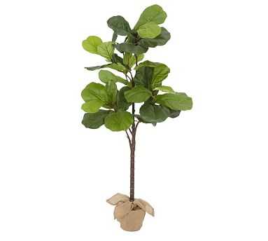 """Faux Potted Fiddle Leaf Tree, Large - 6'9""""ft - Pottery Barn"""