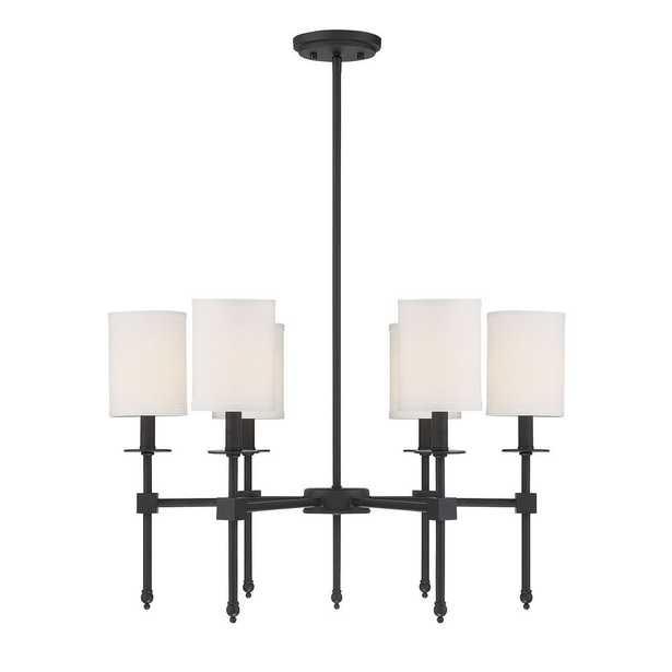 Filament Design 6-Light Matte Black Chandelier - Home Depot