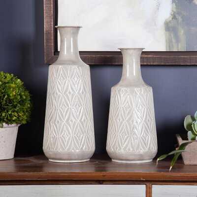 2Pc Damask Vases - Wayfair