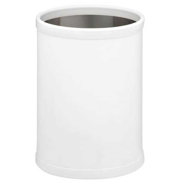 Fun Colors 8 Qt. White Round Waste Basket - Home Depot