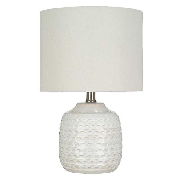 Cresswell 15.25 in. White Ceramic Accent Lamp - Home Depot