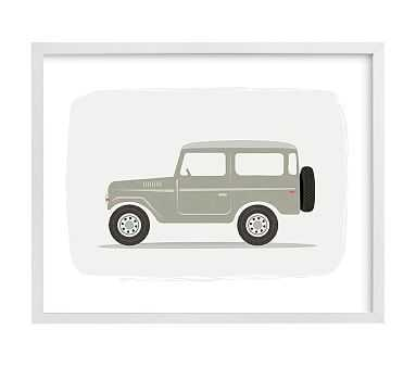 Vintage Land Cruiser, Wall Art by Minted(R), 8x10, White - Pottery Barn Kids