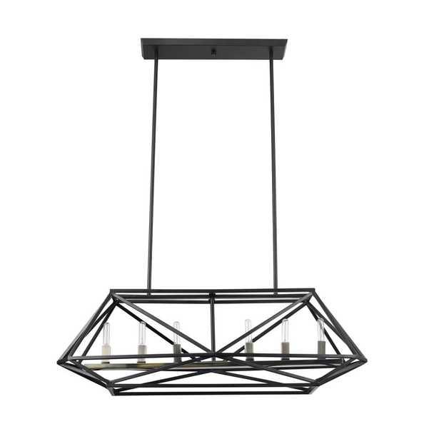 Globe Electric Sansa 6-Light Dark Bronze Chandelier - Home Depot